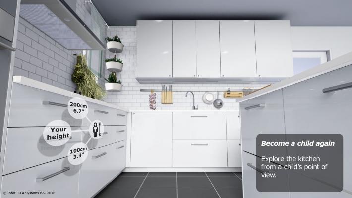 Naplánujte si kuchyni IKEA s virtuálními brýlemi HTC Vive